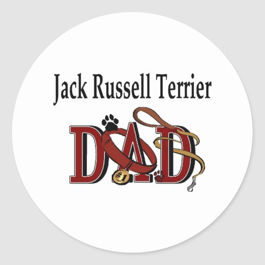Jack Russell Terrier Dad Sticker