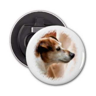 JACK RUSSELL TERRIER DOG BUTTON BOTTLE OPENER