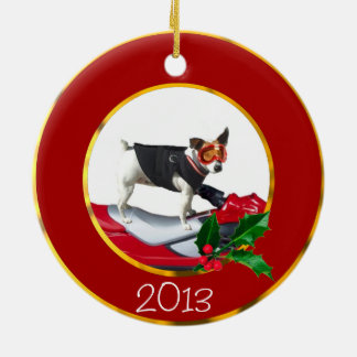 Jack Russell Terrier dog Ceramic Ornament