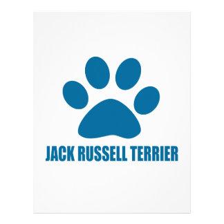 JACK RUSSELL TERRIER DOG DESIGNS LETTERHEAD