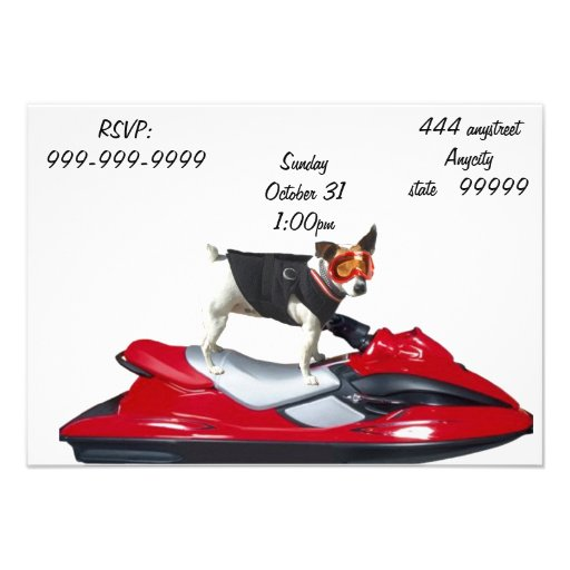 Jack Russell Terrier dog Custom Announcements