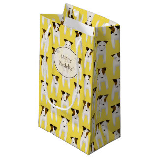 Jack Russell Terrier dogs pattern birthday Small Gift Bag