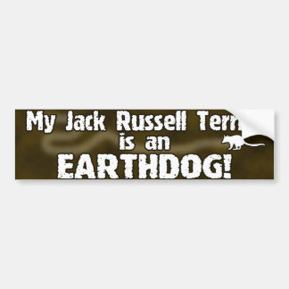 Jack Russell Terrier Earthdog Bumper Sticker