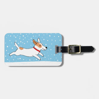 Jack Russell Terrier - Happy Winter Snow Dog Luggage Tag