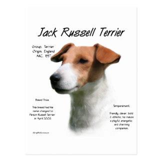 Jack Russell Terrier History Design Postcard