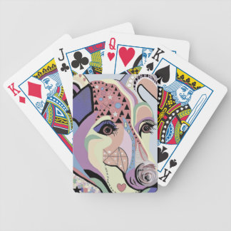 Jack Russell Terrier in Denim Colors Bicycle Playing Cards