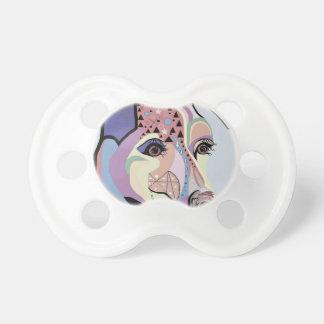 Jack Russell Terrier in Denim Colors Pacifier