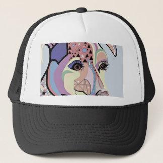 Jack Russell Terrier in Denim Colors Trucker Hat
