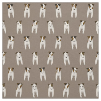 Jack Russell Terrier JRT cute dog pattern Fabric