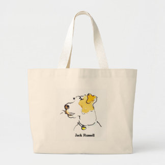 Jack Russell Terrier Jumbo Tote Bag