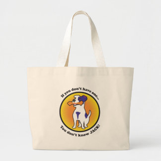 Jack Russell Terrier Large Tote Bag