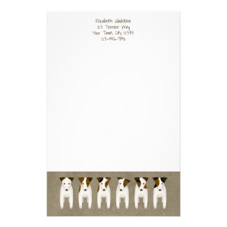 Jack Russell Terrier lovers' customized Stationery