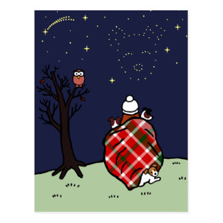 Jack Russell Terrier Mom and Starry Sky Postcards