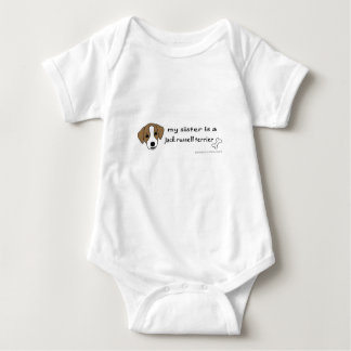 jack russell terrier - more breeds baby bodysuit