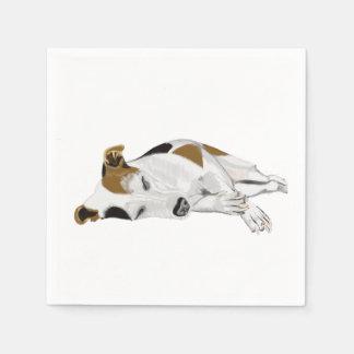 Jack Russell Terrier Peacefully Sleeping Paper Napkin