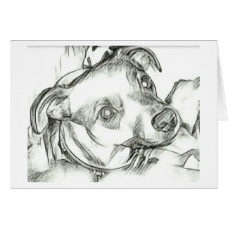 Jack Russell terrier pencil sketch Card
