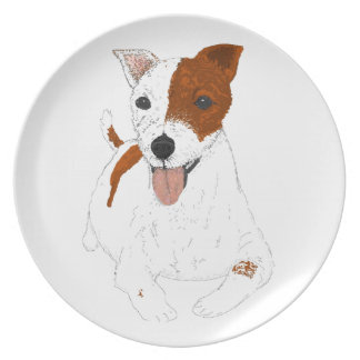 Jack Russell Terrier Plates