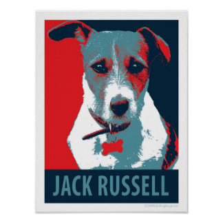 Jack Russell Terrier Political Parody Poster 12x16