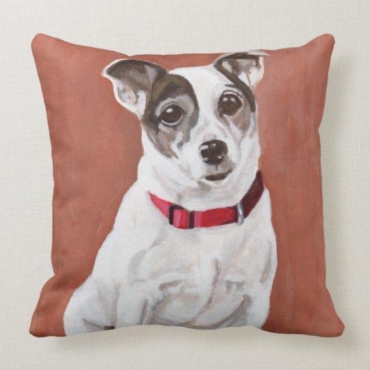 Jack Russell Terrier Portrait Pillow