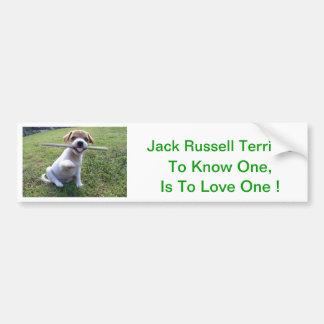 Jack Russell Terrier Puppy Bumper Sticker