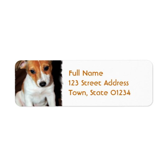 Jack Russell Terrier Puppy Dog Mailing Label Return Address Label