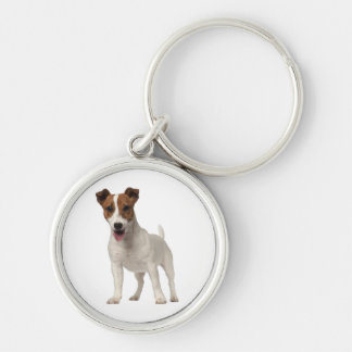 Jack Russell Terrier Puppy Dog White And Brown Keychain