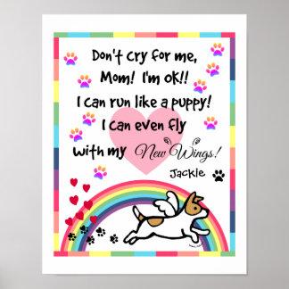 Jack Russell Terrier Rainbow Bridge Art Print