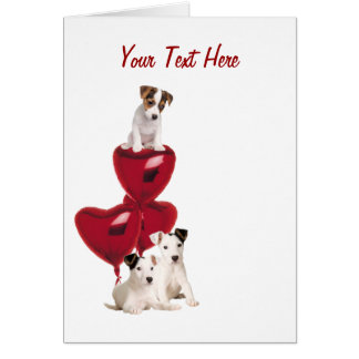 Jack Russell Terrier Really Cute Valentine Design Card