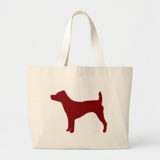 Jack Russell Terrier (Red) Large Tote Bag