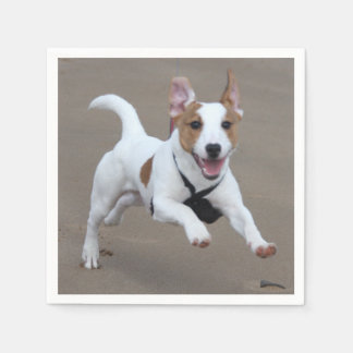 Jack_Russell terrier running 2.png Disposable Napkins