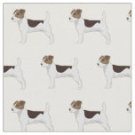 Jack Russell Terrier Silhouette Tiled - Basic Fabric