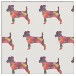 Jack Russell Terrier Silhouette Tiled - Multi Fabric