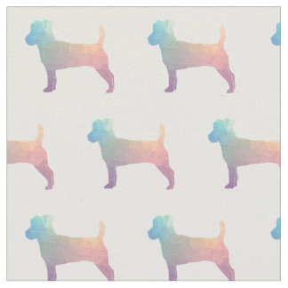 Jack Russell Terrier Silhouette Tiled - Pastel Fabric