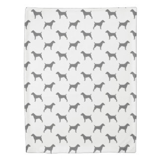 Jack Russell Terrier Silhouettes Pattern Duvet Cover