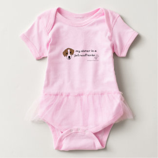 jack russell terrier sister baby bodysuit