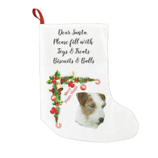Jack Russell Terrier Small Christmas Stocking
