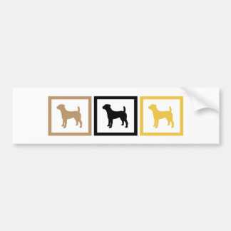 Jack Russell Terrier Squares Bumper Sticker