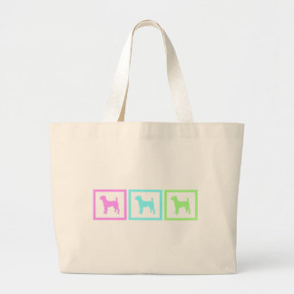 Jack Russell Terrier Squares Large Tote Bag