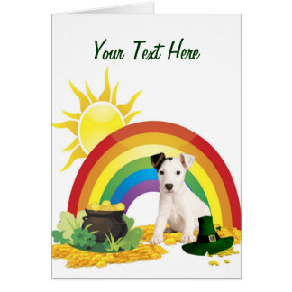 Jack Russell Terrier St. Patrick's Day Wishes Card