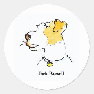 Jack Russell Terrier Round Sticker