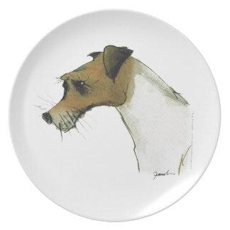 jack russell terrier, tony fernandes plates