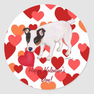 Jack Russell Terrier Valentine Stickers