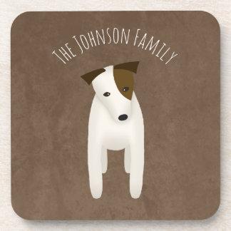 jack russell terrier with cute head tilt coaster