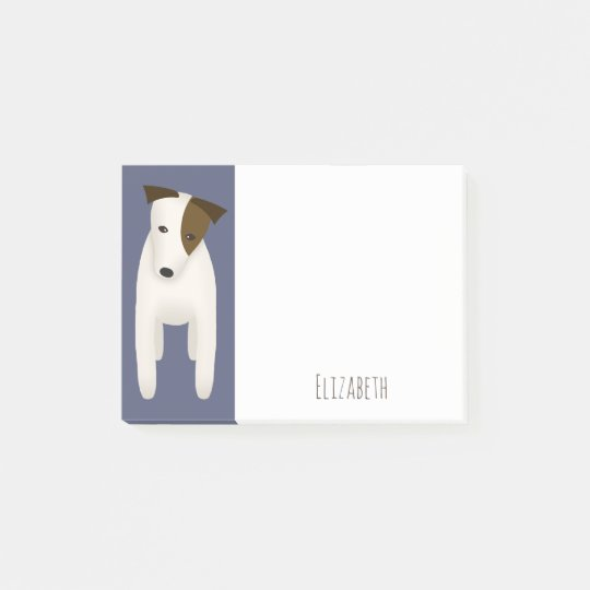 Jack Russell Terrier with cute head tilt Post-it Notes
