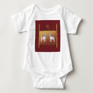Jack Russell Terriers Asian Design Chinese Baby Bodysuit