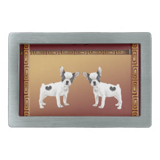 Jack Russell Terriers Asian Design Chinese Belt Buckle