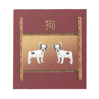Jack Russell Terriers Asian Design Chinese Notepad