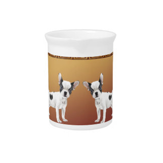 Jack Russell Terriers Asian Design Chinese Pitcher