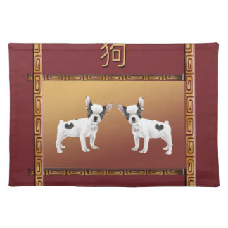 Jack Russell Terriers Asian Design Chinese Placemat