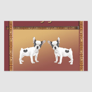 Jack Russell Terriers Asian Design Chinese Sticker